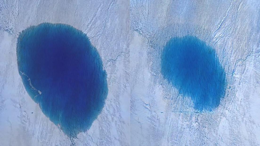 Millones de litros de agua se esfuman en tan solo 5 horas: graban la desaparición de un lago en Groenlandia