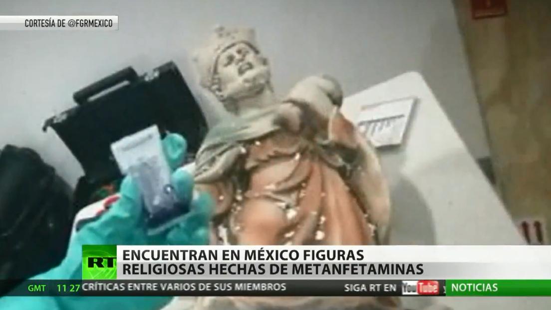 Descubren dos imágenes esculpidas con droga en un aeropuerto de México