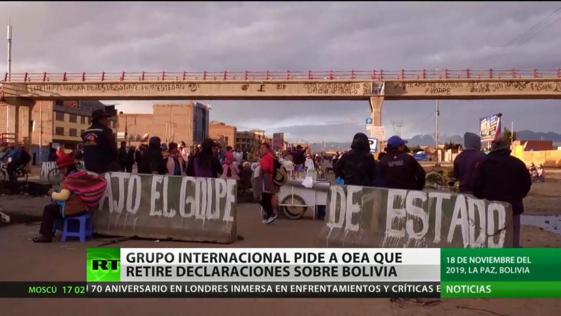 Grupo internacional pide a la OEA que retire declaraciones sobre Bolivia