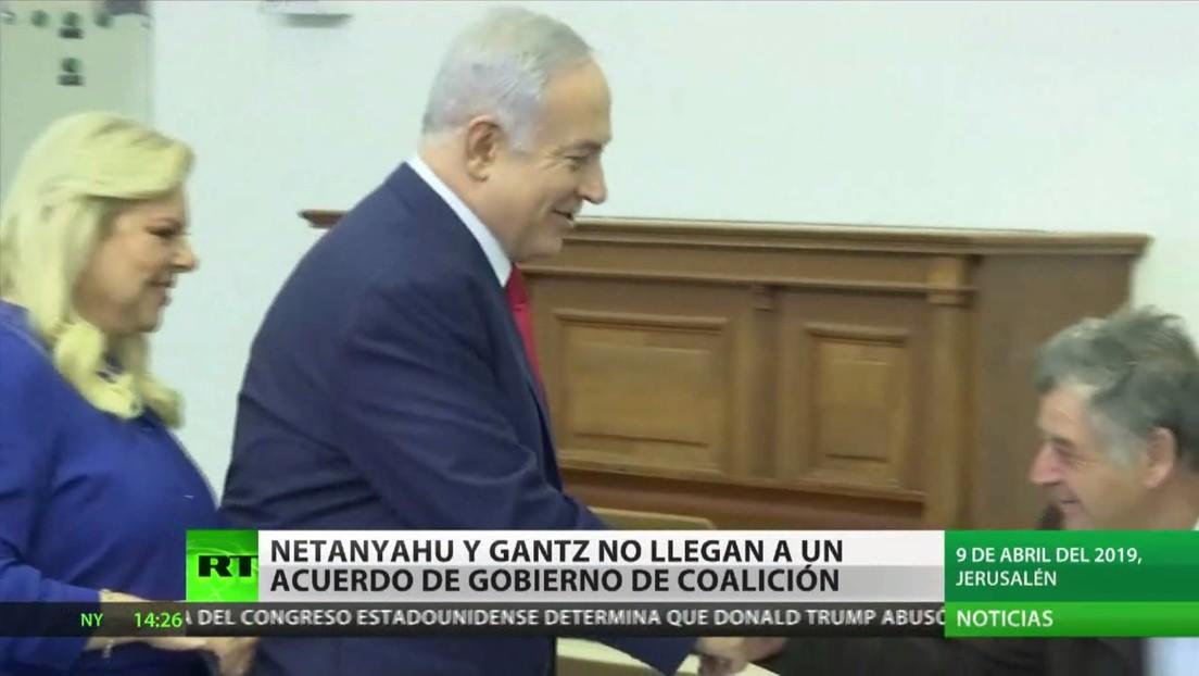 Netanyahu y Gantz fracasan en la búsqueda de un Gobierno de coalición en Israel