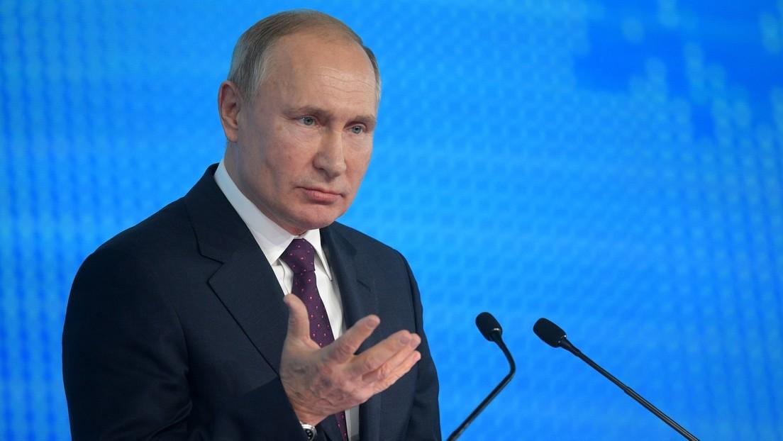 Putin declara que EE.UU. considera el espacio como un teatro de operaciones y planea realizar allí operativos militares