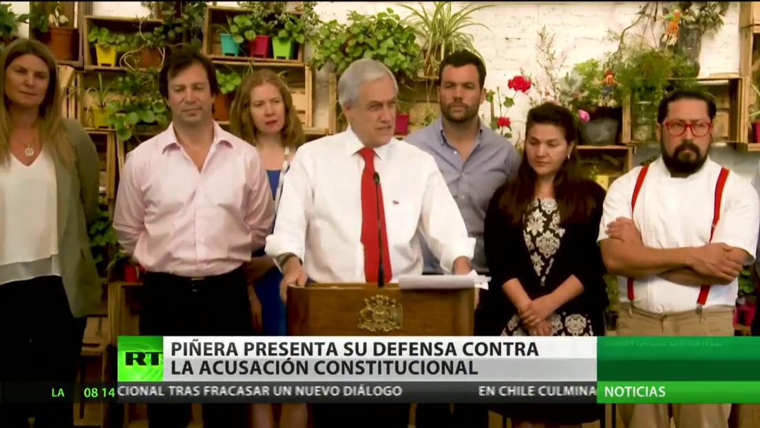 Piñera presenta su defensa contra la acusación constitucional