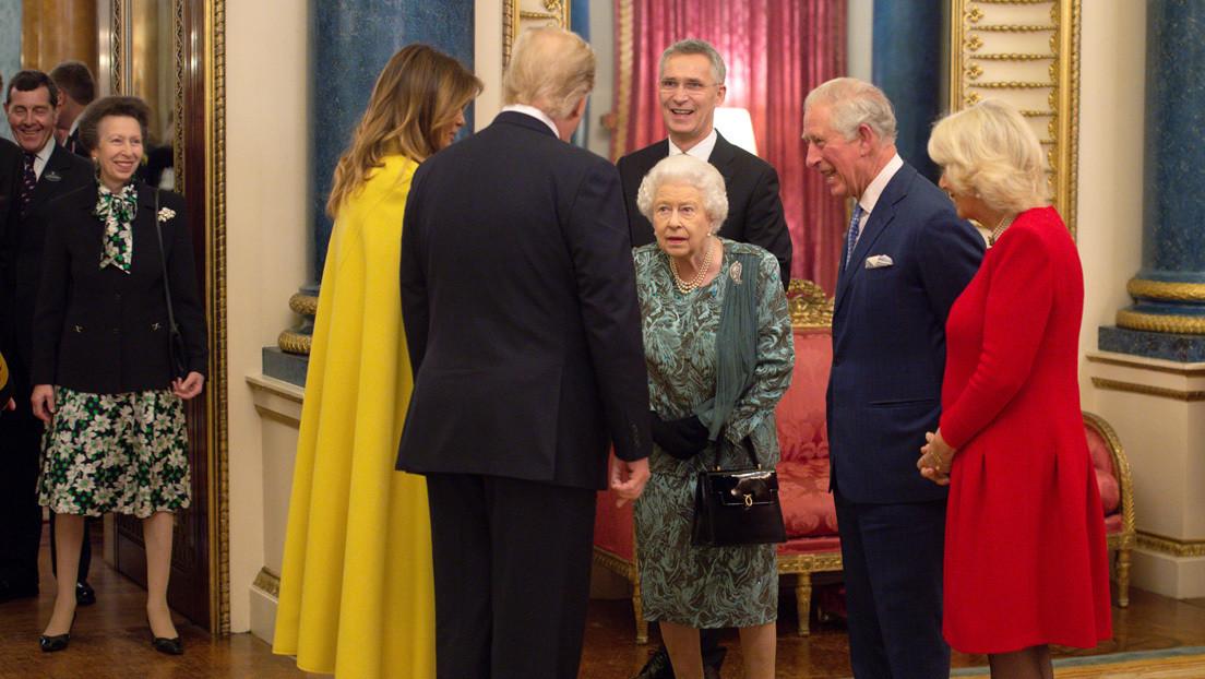 VIDEO: El regaño de la reina Isabel II a su hija por no saludar a Trump se volvió viral