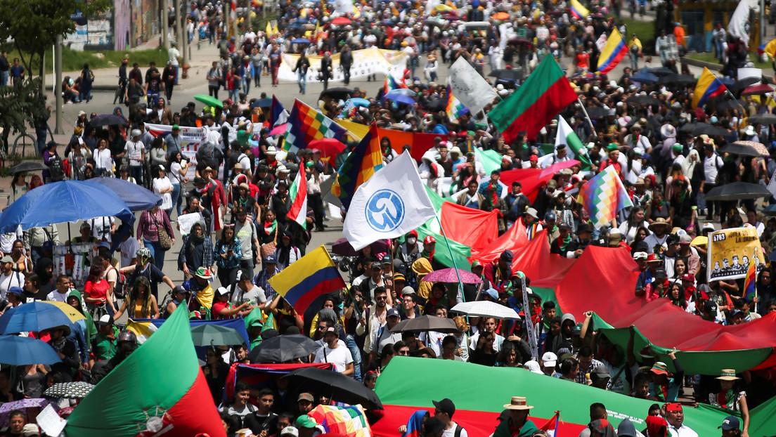 VIDEO: Tercera huelga general en Colombia contra el 'paquetazo' del gobierno de Duque