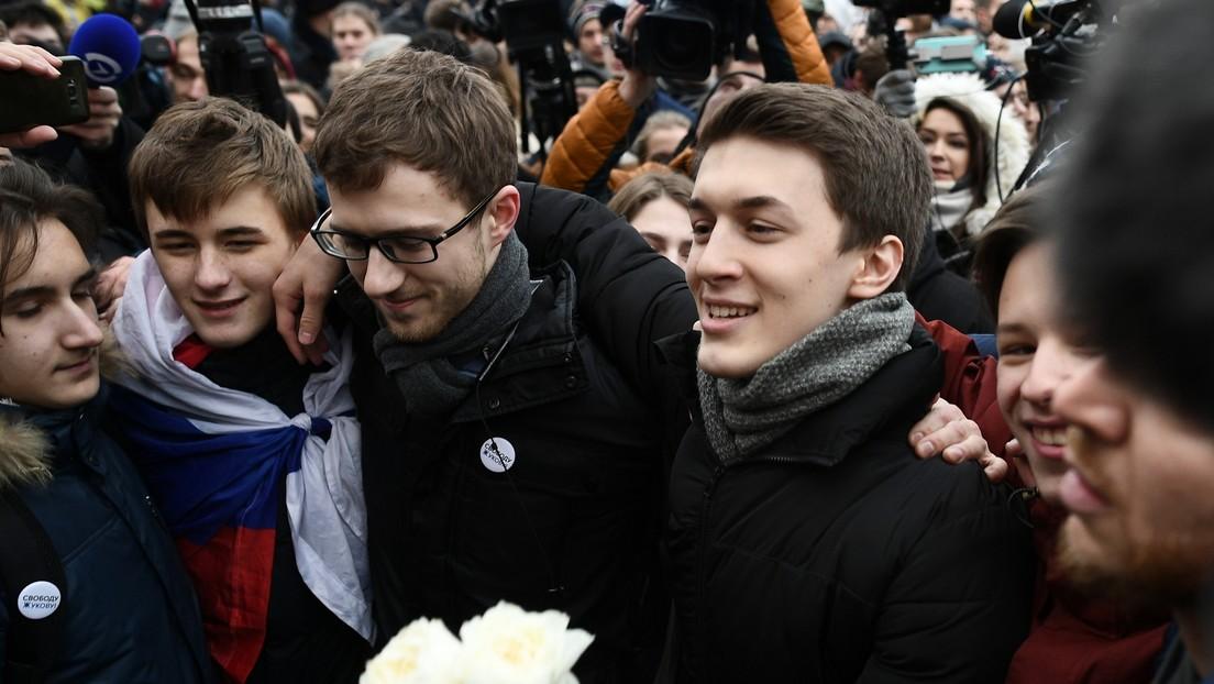 Pena suspendida al estudiante Yegor Zhúkov y otras sentencias a los acusados por el 'Caso de Moscú' tras las protestas en la capital rusa
