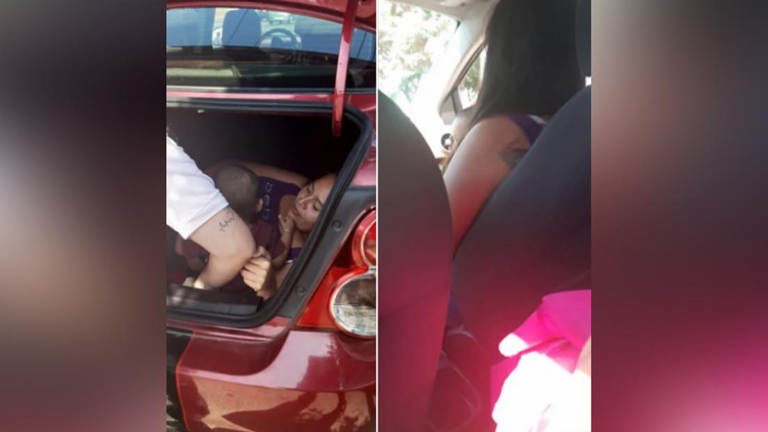FOTOS: Conductor de Uber encuentra a su esposa escondida en la cajuela de su vehículo para espiarlo