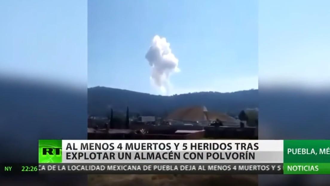 La explosión de un almacén de pirotecnia en México deja al menos cuatro muertos y cinco heridos