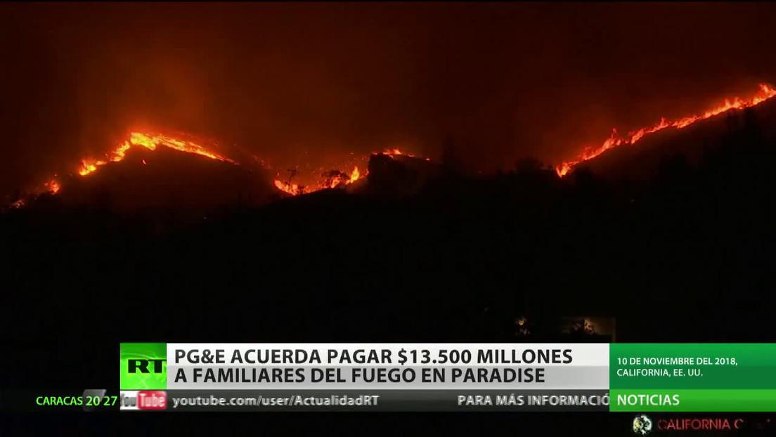 PG&E acuerda pagar 13.500 millones de dólares a familiares del fuego en Paradise