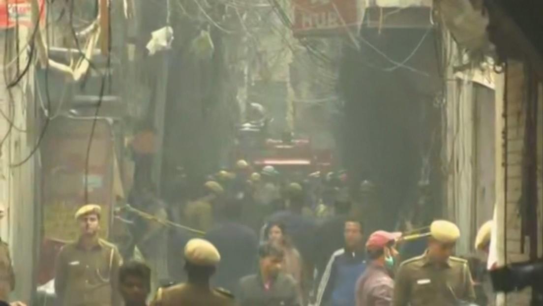43 muertos y varios heridos en un incendio en una fábrica en la India
