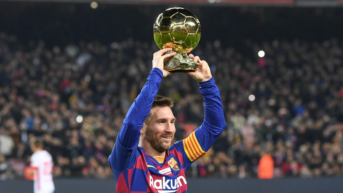 Messi celebra su sexto Balón de Oro brillando con un 'hat-trick' y poniendo al F.C. Barcelona en la cima de La Liga