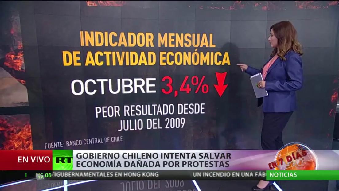 Gobierno de Chile intenta salvar la economía, afectada por las protestas