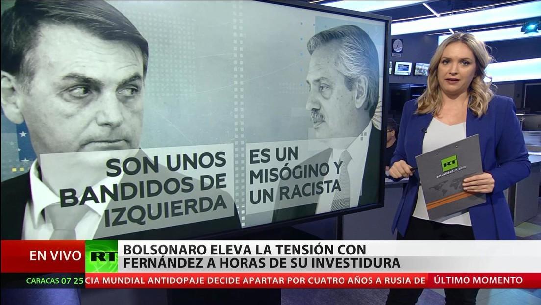 Bolsonaro eleva la tensión con Alberto Fernández a horas de su investidura