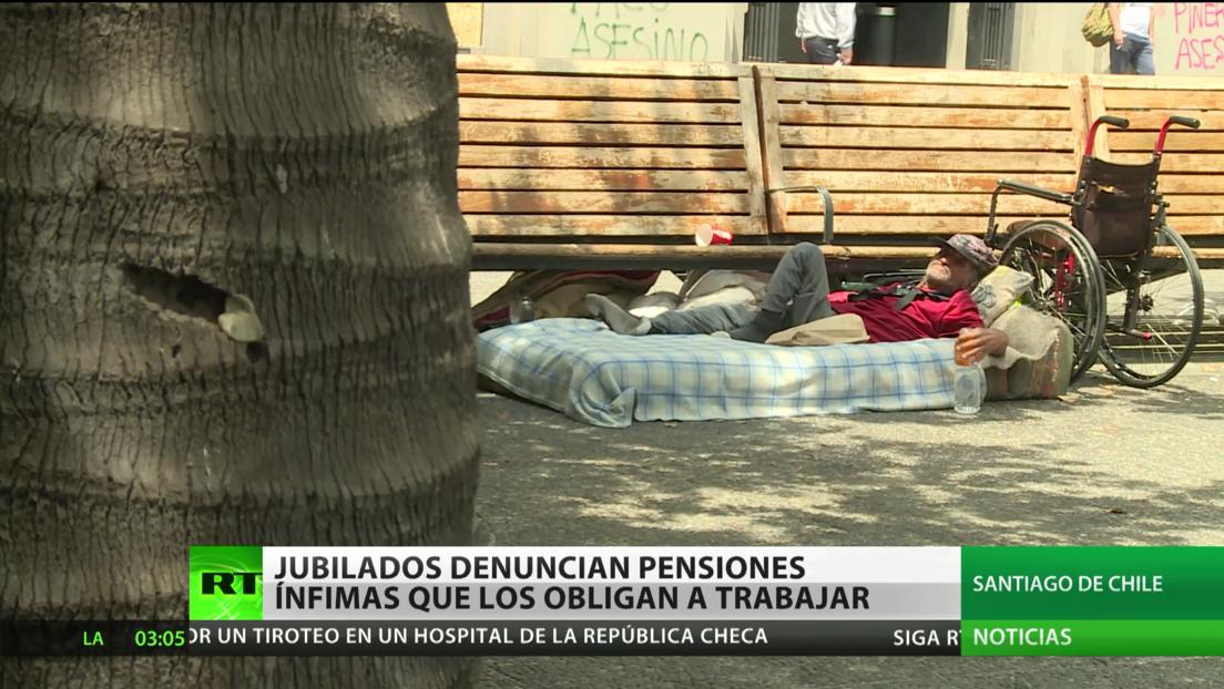 Chile: Jubilados denuncian que sus pensiones ínfimas los obligan a trabajar