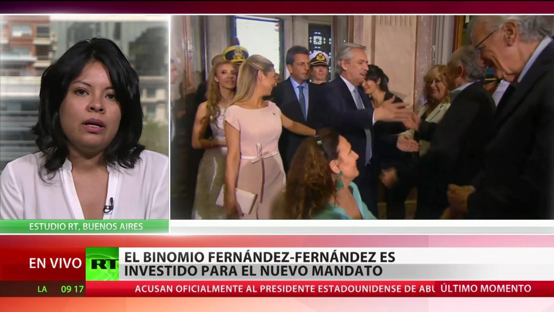 El binomio Fernández-Fernández es investido para el nuevo mandato en Argentina