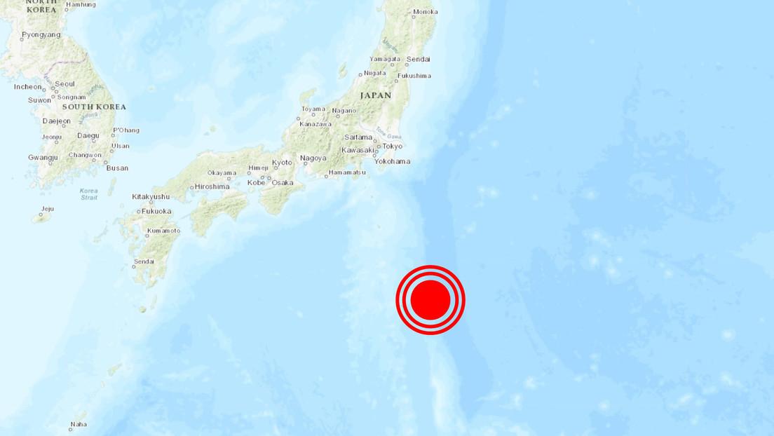 Se registra cerca de las costas de Japón un sismo de magnitud 5,9