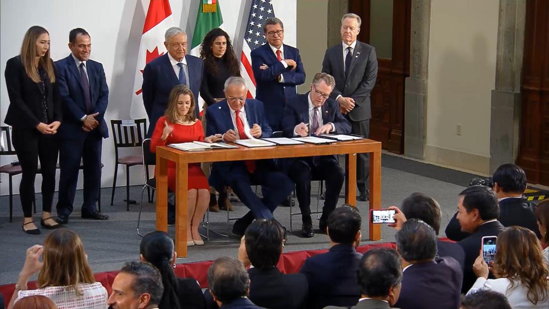 México, EE.UU. y Canadá firman los nuevos términos del acuerdo comercial T-MEC