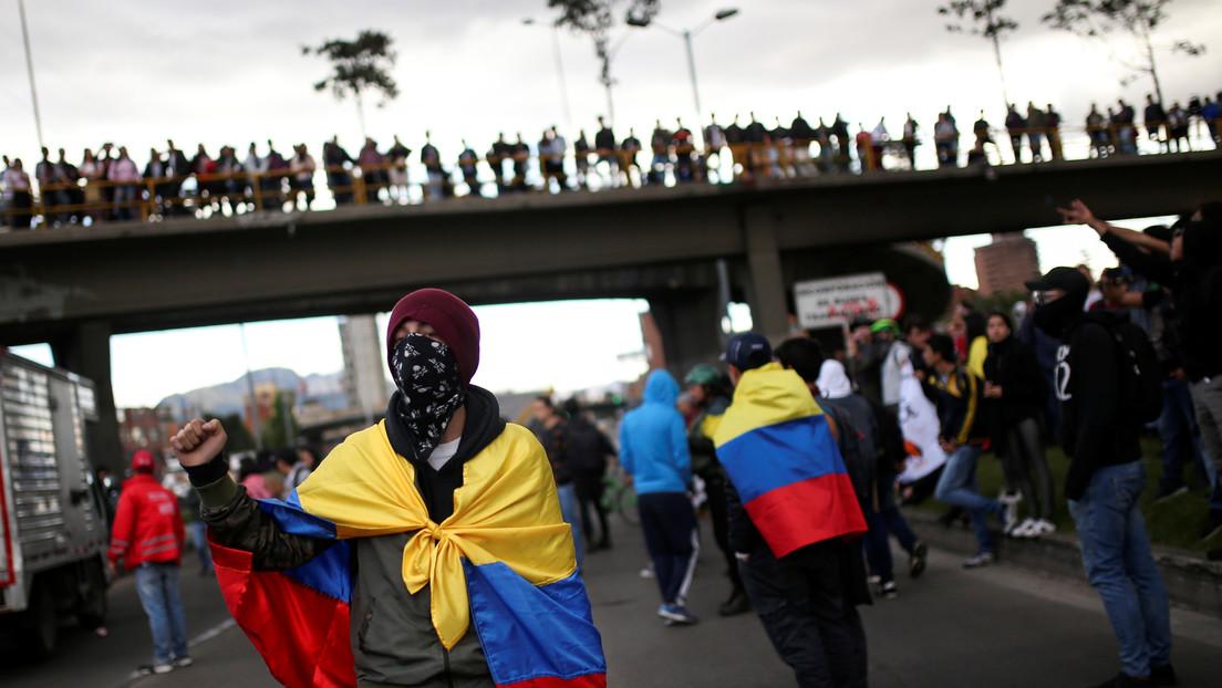 Colombianos mantienen las protestas contra Duque en el Día Internacional de los Derechos Humanos