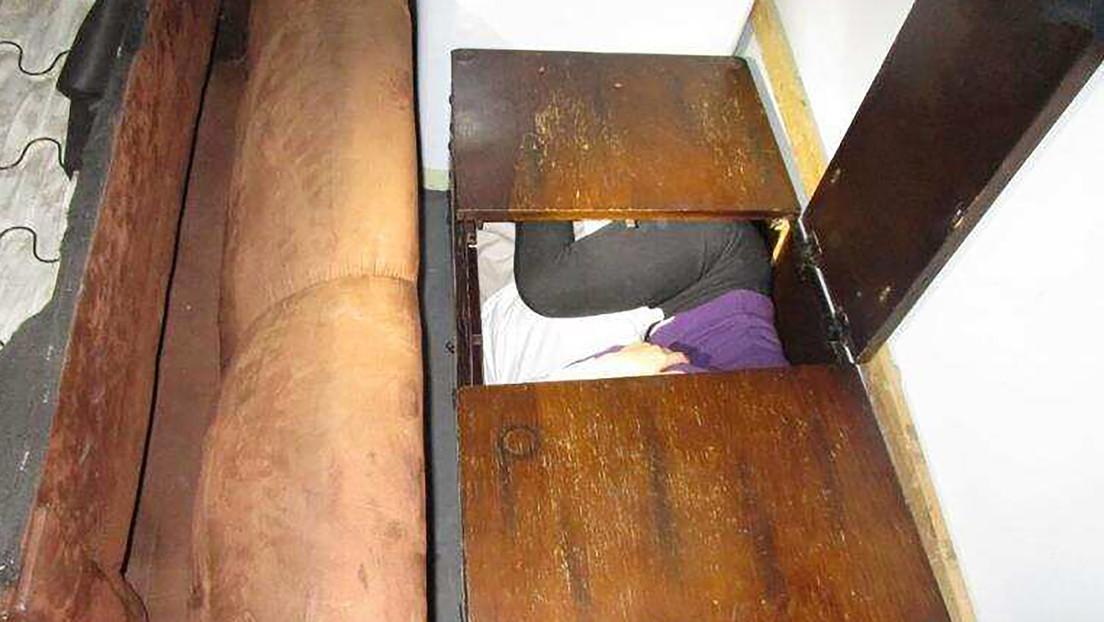 Hallan a 11 chinos ocultos en escondrijos de muebles y electrodomésticos para entrar a EE.UU. (FOTOS)