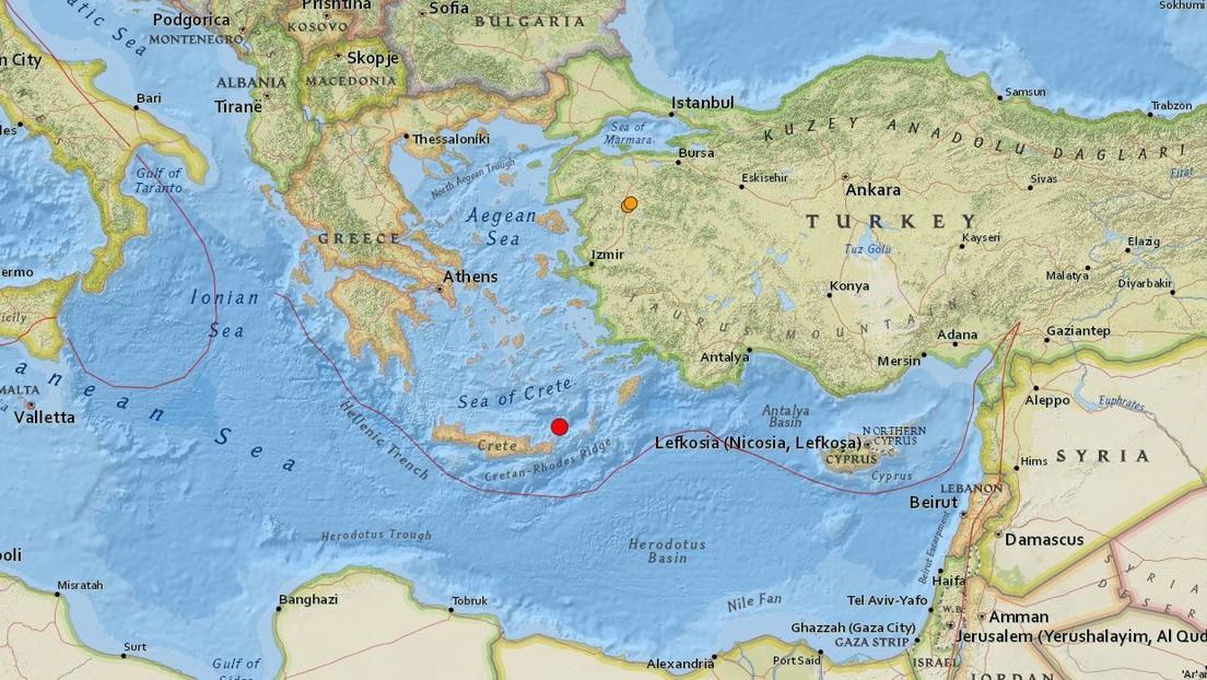Un sismo de magnitud 5,4 sacude las costas de Grecia