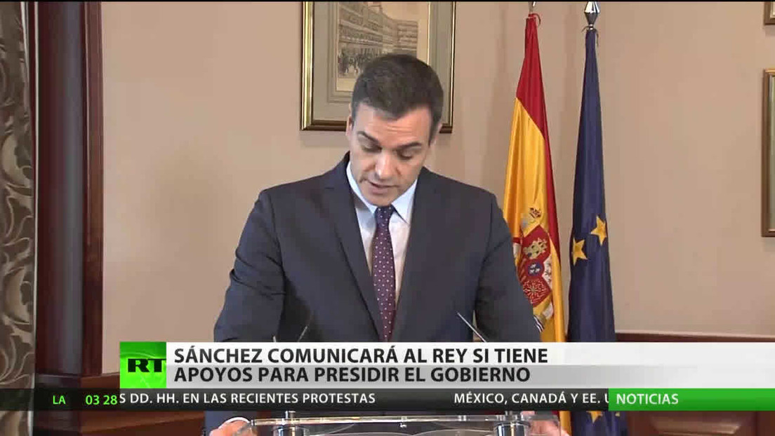España: Pedro Sánchez comunicará al Rey si tiene apoyos para aceptar la investidura