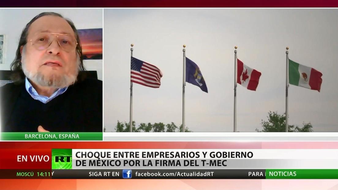 """Experto: """"Con la firma del tratado comercial T-MEC México se verá obligado a aceptar las condiciones de EE.UU."""""""