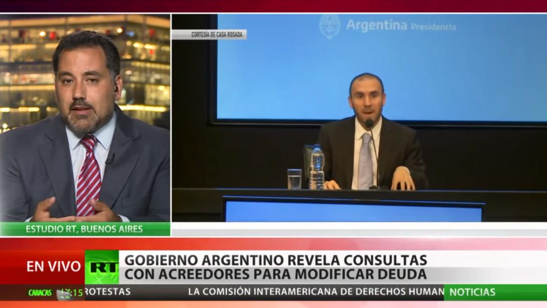 El Gobierno argentino revela consultas con acreedores para modificar la deuda