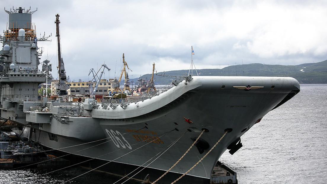 Se declara un incendio en el portaaviones ruso Almirante Kuznetsov