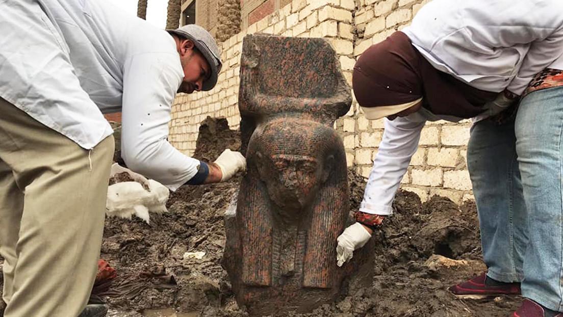 FOTOS: Encuentran en Egipto uno de los bustos del faraón Ramsés II más raros descubiertos hasta la fecha