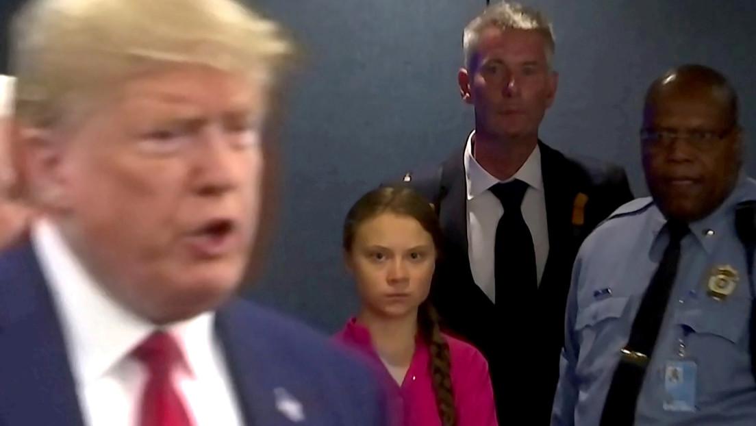 """Trump aconseja a Greta Thunberg que """"se relaje"""" y vaya al cine"""