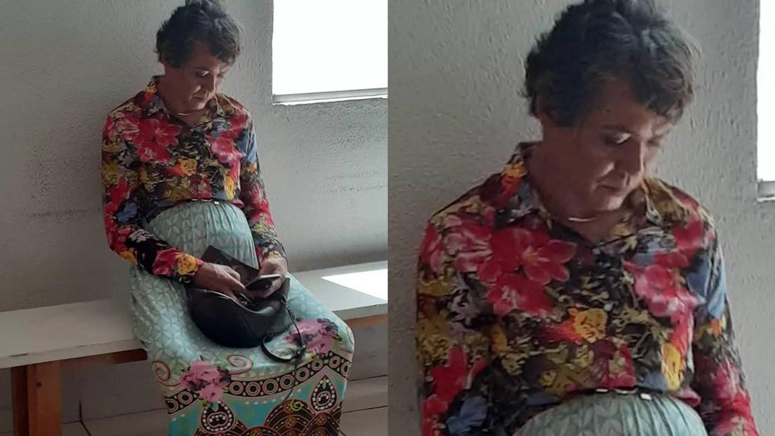 FOTO: Se disfraza de su madre de 60 años para pasar el examen del carnet de conducir y lo pillan