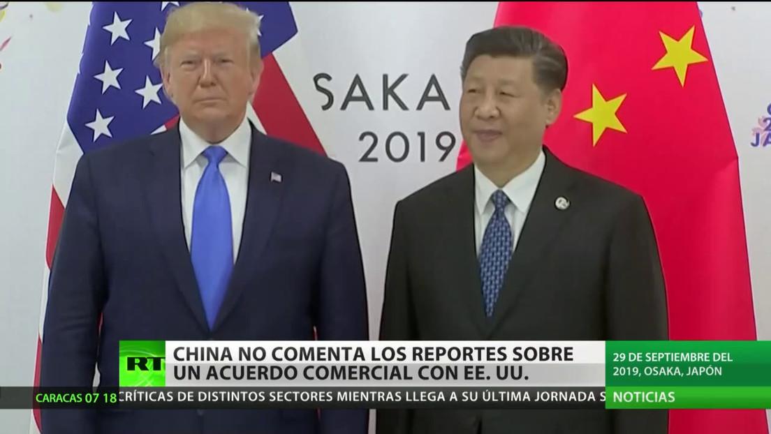 China no confirma ni desmiente los reportes sobre la firma de un acuerdo comercial con EE.UU.