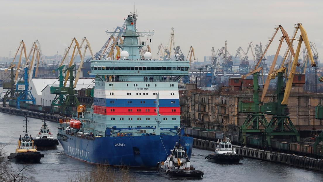 VIDEO: El rompehielos más potente del mundo inicia sus pruebas de mar en el Báltico