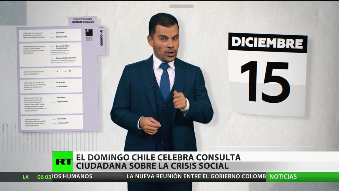 Chile celebra este domingo una consulta ciudadana sobre la crisis social