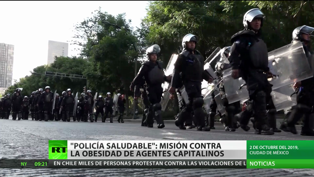 """""""Policía saludable"""": Misión contra la obesidad de agentes capitalinos en México"""