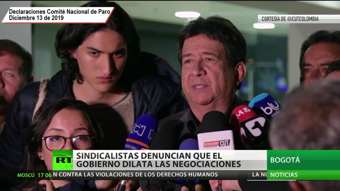 Sindicalistas colombianos denuncian que el Gobierno dilata las negociaciones sobre salario mínimo para el próximo año