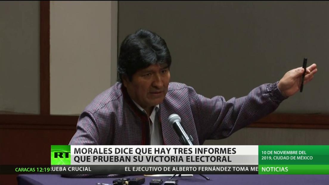 Evo Morales dice que hay tres informes que prueban su victoria electoral