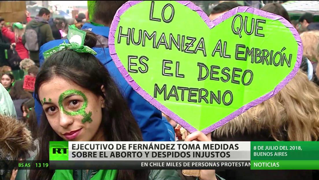 El nuevo Gobierno de Argentina toma medidas sobre el aborto y despidos injustos
