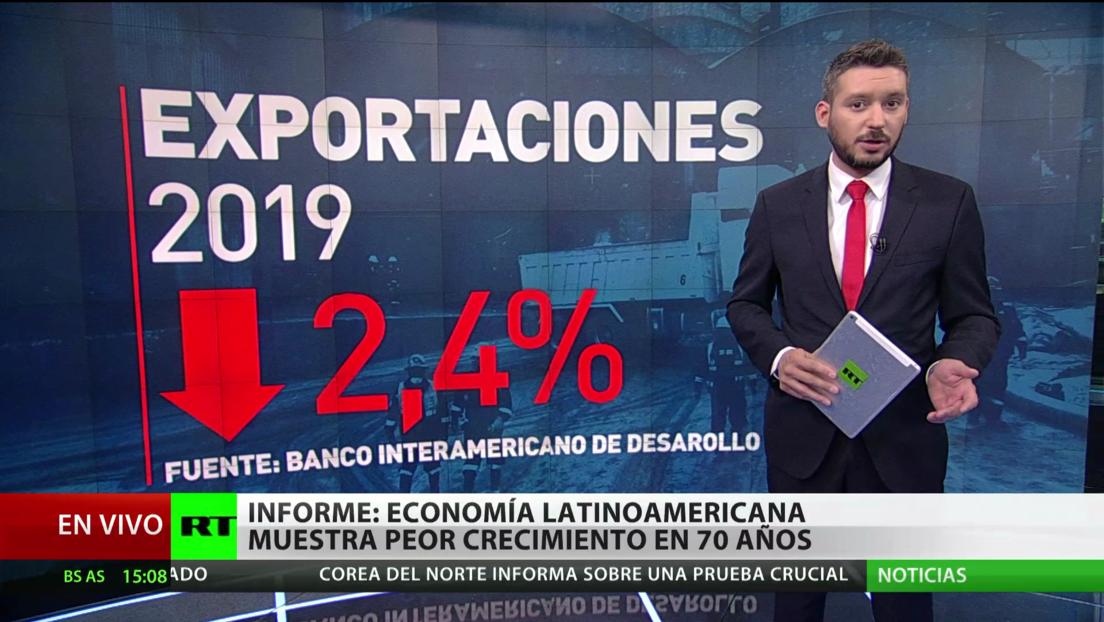 Informe: La economía latinoamericana registra su peor crecimiento en 70 años