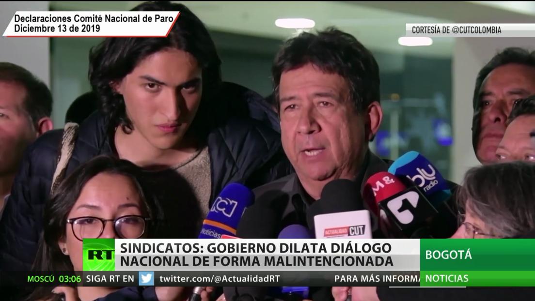 Sindicatos en Colombia: El Gobierno dilata el diálogo nacional de forma malintencionada