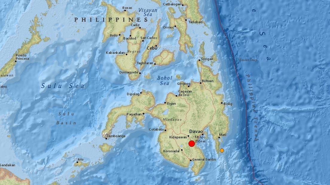 Un sismo de magnitud 6,8 sacude Filipinas