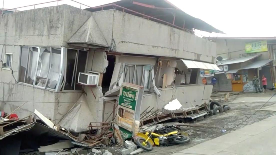 VIDEOS, FOTOS: Primeras imágenes del fuerte terremoto de magnitud 6,8 en Filipinas