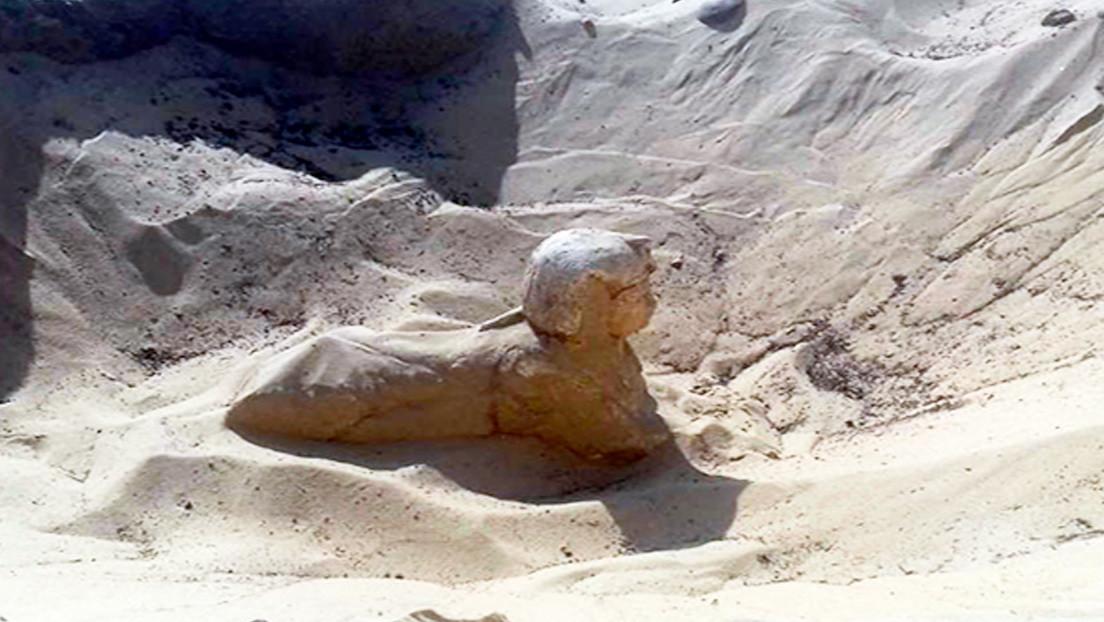 """Hallan en Egipto una esfinge real con """"rasgos claros y hermosos"""""""