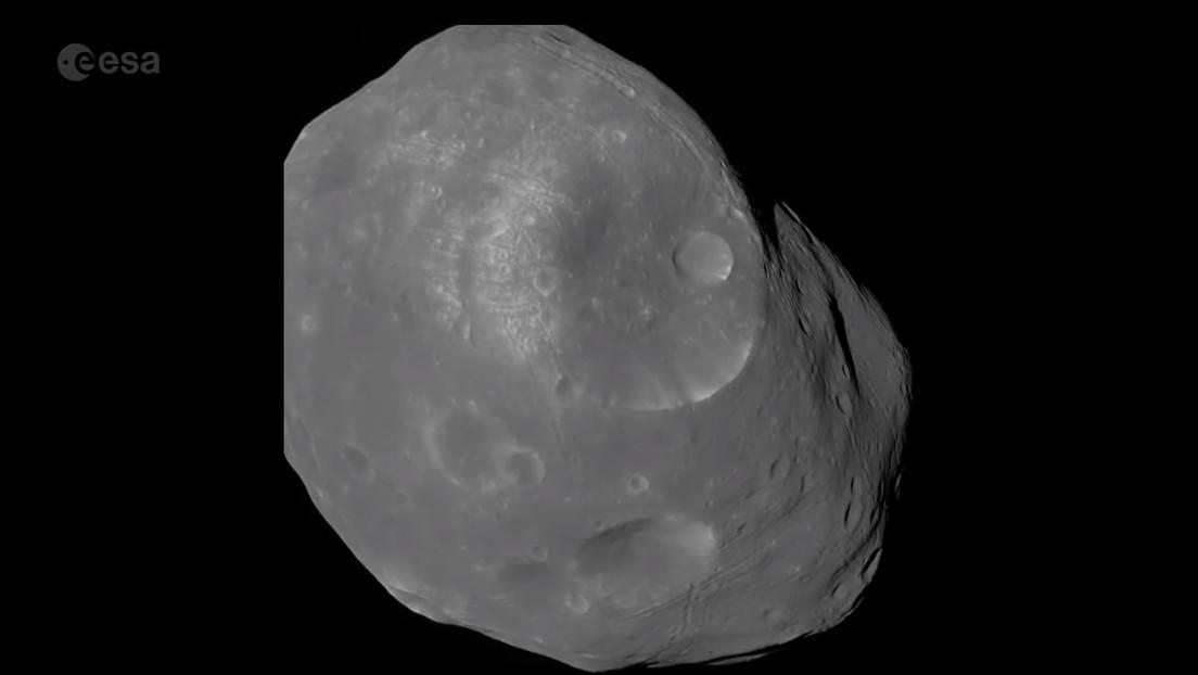 VIDEO: Fotografían la luna más grande de Marte a tan solo 2.400 kilómetros de distancia