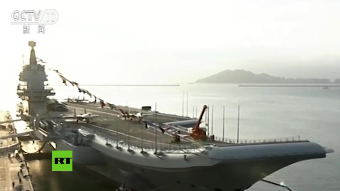 VIDEO: El primer portaviones de fabricación nacional entra en servicio en China