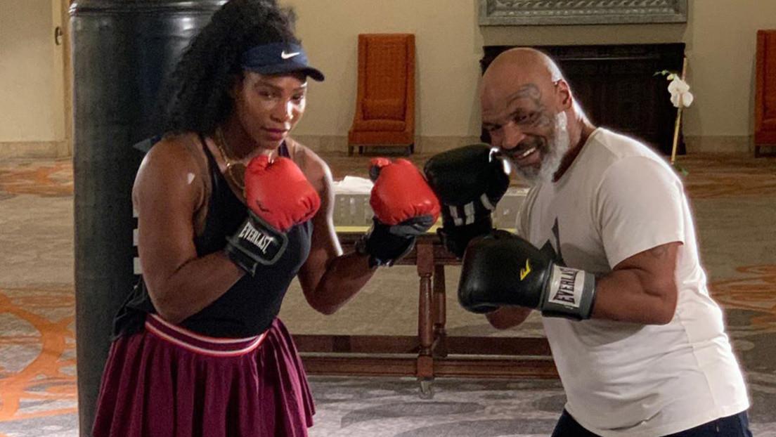 """VIDEO: La lección de boxeo de Mike Tyson a Serena Williams que hace que el expúgil no quiera """"subir al cuadrilátero"""" con la tenista"""