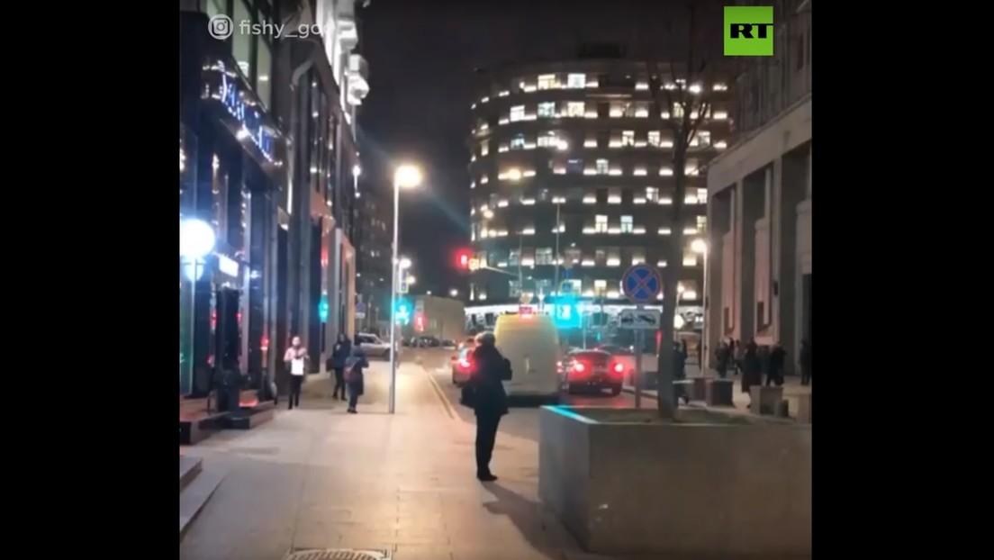 Primeras imágenes del tiroteo cerca del edificio del FSB en el centro de Moscú