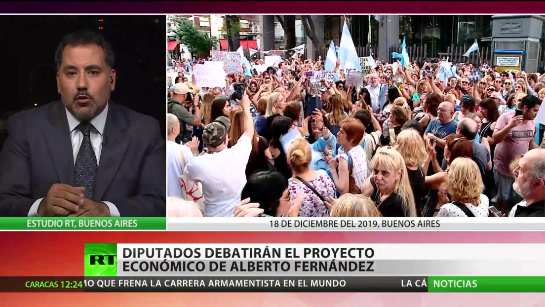 Argentina: Diputados debatirán las medidas económicas urgentes de Alberto Fernández