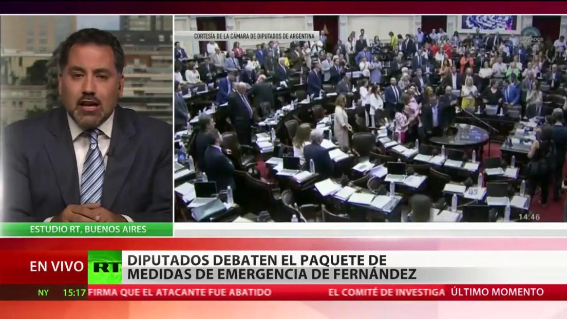 La Cámara de Diputados de Argentina debate el paquete de medidas de emergencia de Fernández
