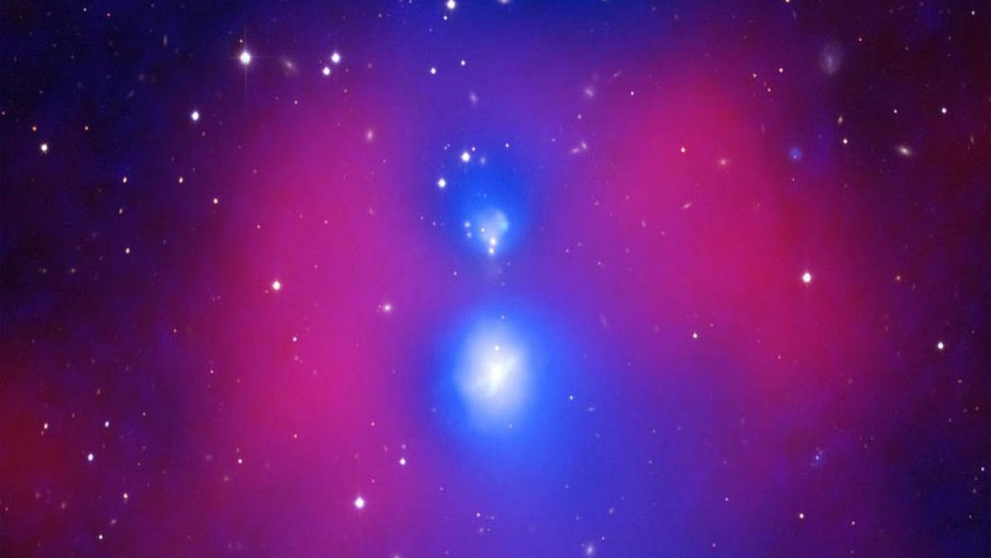 """La NASA capta """"la colisión más violenta"""" jamás vista entre grupos de galaxias"""