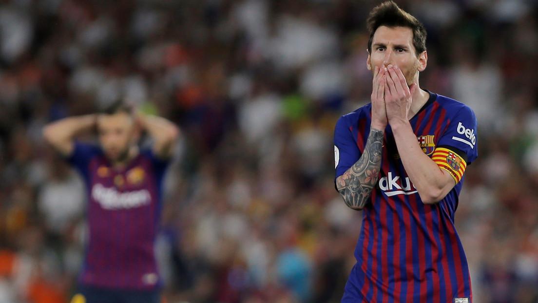 """Un periodista español califica a Messi de """"chiquitito mirón"""" por un fallo en el F.C. Barcelona-Real Madrid"""
